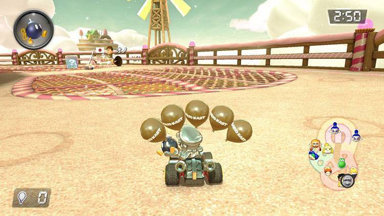 Bob-omba a tappetto Mario Kart 8 Deluxe recensione Nintendo Switch