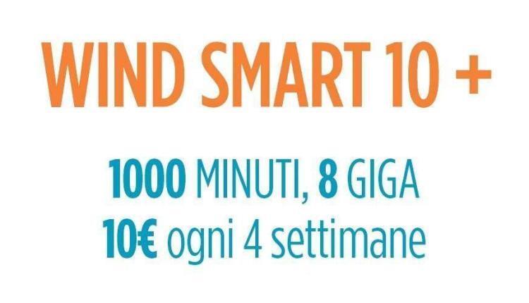 Wind Smart 10+ con 1000 minuti e 8GB a 10€ al mese: la nuova offerta è su Amazon