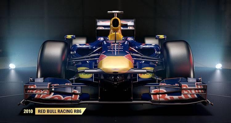 F1 2017: Codemasters svela la Red Bull RB6 del 2010 tra le auto storiche
