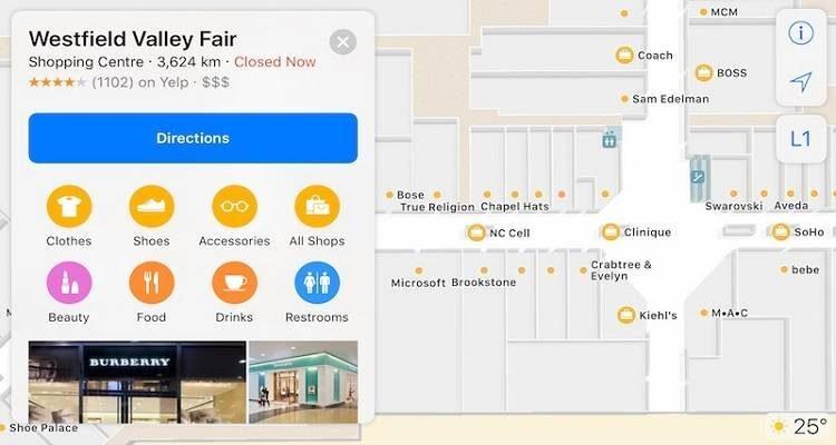 Su iOS 11 cominciano ad arrivare le prime mappe indoor!