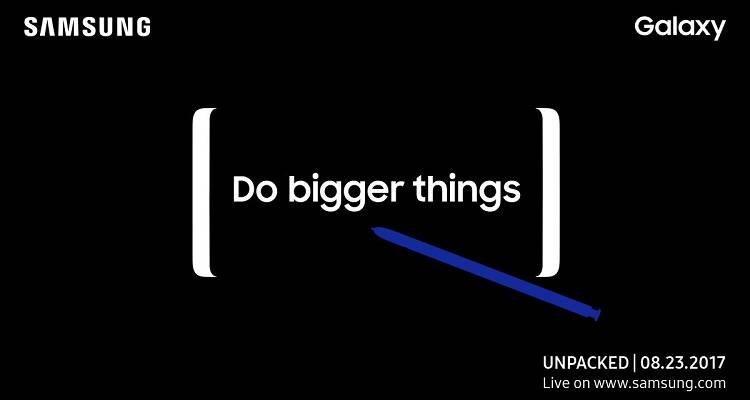 Samsung Galaxy Note 8, ecco l'immagine con tutti gli 8 colori disponibili!