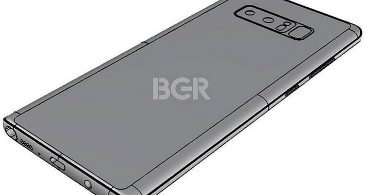 Samsung Galaxy Note 8, una nuova conferma sulla dual cam disposta in orizzontale