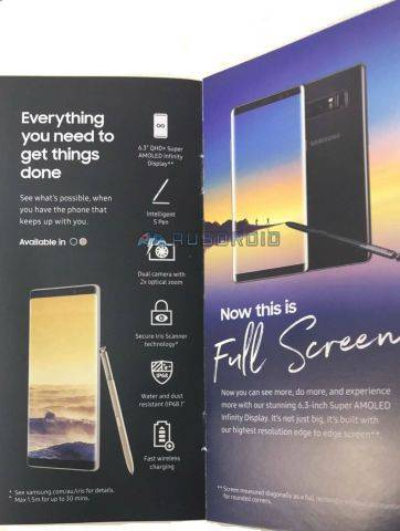 brochure samsung galaxy note 8