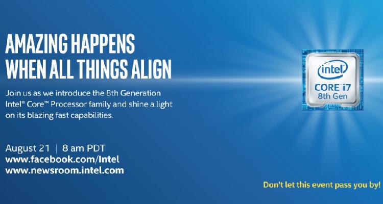 Intel Coffee Lake ufficiale dal 21 agosto