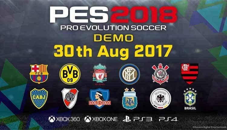 PES 2018 avrà una versione demo su console