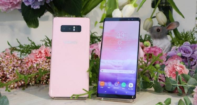 Ecco le foto del Samsung Galaxy Note 8 in rosa, lanciato a Taiwan!
