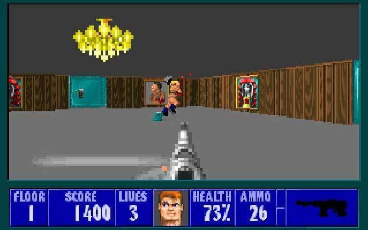Wolfenstein Dialogue 3D mod punch nazi