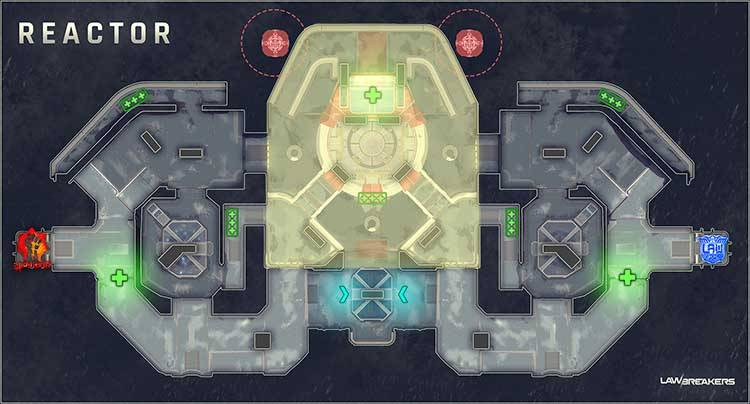 LawBreakers Recensione Reactor Map