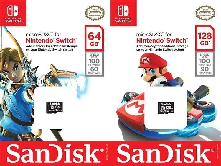 Nintendo Switch microSD SanDisk