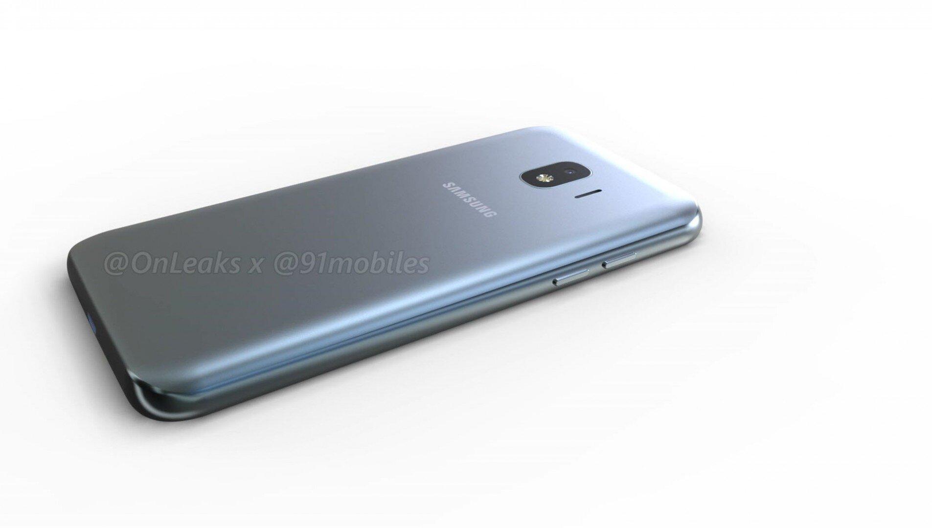 Il Samsung Galaxy J2 Pro (2017) in una serie di immagini rendering