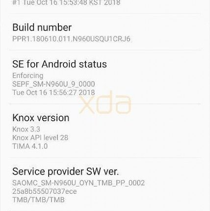 samsung galaxy s9 android pie 9 beta 12